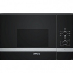 SIEMENS BE550LMR0-Micro ondes grill encastrable inox-20 L