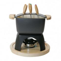 BAUMALU 385072 Service a fondue carré 16 x 16 cm - Noir