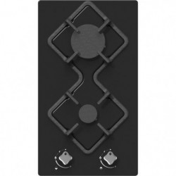 HUDSON HDG 2 VN - Table de cuisson gaz domino - 2 foyers