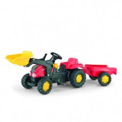 ROLLY TOYS Tracteur a pédales enfant et remorque