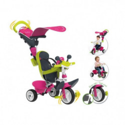 SMOBY Tricycle Baby Driver Confort Evolutif Rose