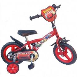 """CARS Vélo Enfant garçon - 12"""" -3/5 ans- Rouge"""