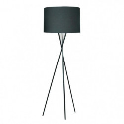 MIKADO Lampadaire Noir a Trépied, hauteur 160 cm