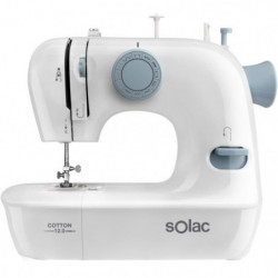 SOLAC COTTON 12.0-SW8220 Machine a coudre - 7,2 W - 2 vitesses