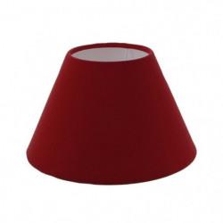 Abat-jour forme Empire - Ø 25 x H 16 cm - Polycoton - Rouge