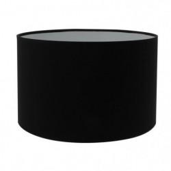 Abat-jour forme Cylindre - Ø 19 x H 14 cm - Polycoton - Noir