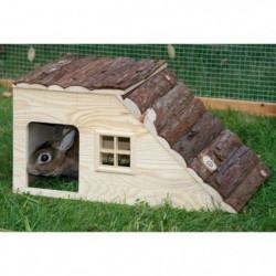KERBL Maison Nature avec rampe pour rongeurs - 49x25x25cm