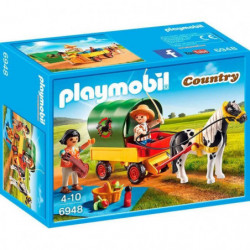 PLAYMOBIL 6948 - Country - Enfants avec Chariot et Poney