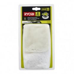 RYOBI Bonnets polissage et lustrage pour polisseuse ONE+ R18