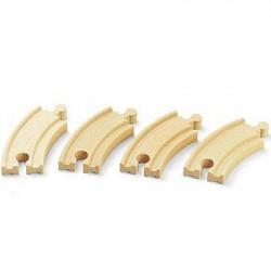 BRIO World  - 33337 - Petits Rails Courbes - 90 mm - Jouet e