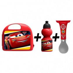 CARS Combo boîte à gouter + bidon + klaxon
