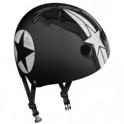 STAMP Casque Skate Black Star avec Molette d'Ajustement - Ta
