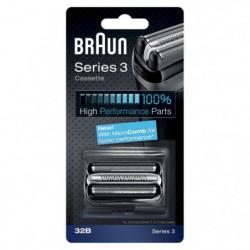 Braun Piece De Rechange 32B Noire Pour Rasoir - Compatible a