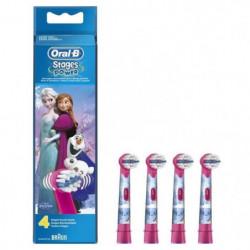 Oral-B Stages Power 4 brossettes de rechange avec les person