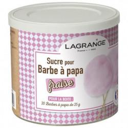 LAGRANGE 380007 Boîte de sucre a barbe a papa 500 g - Fraise