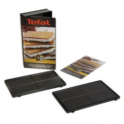 TEFAL Accessoires XA800512 Lot de 2 plaques gaufrettes Snack