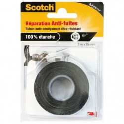 3M SCOTCH Ruban adhésif auto-amalgamant - 3 m x 25 mm - Noir
