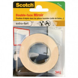 3M SCOTCH Double-face - 1,5 m x 19 mm - Miroir