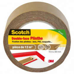 3M SCOTCH Double-face - 15 m x 50 mm - Plinthe