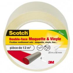 3M SCOTCH Double-face - 20 m x 50 mm - Moquette et vinyle