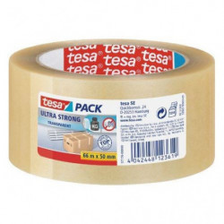 TESA Ruban PVC Ultra Strong  - 66m x 50mm - Transparent