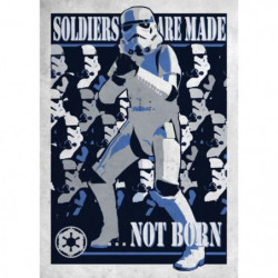 Poster métallique Star Wars Galactic Propaganda : Soldier ar