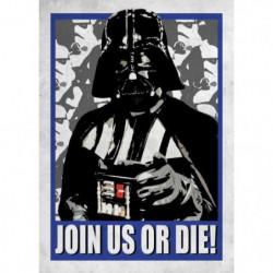Poster métallique Star Wars Galactic Propaganda : Join Us or