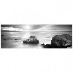 Affiche encadrée petite moulure Zen Pierres - 30 x 90 cm - B