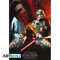 Poster Star Wars - Groupe First Order roulé filmé (98x68) -