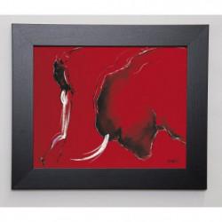 GUERINEAU PASCAL Image encadrée Corrida II 31x37 cm Rouge