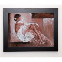JOHANNA Image encadrée Romantique I 37x47 cm Rose