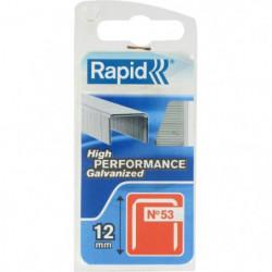 RAPID Agrafes galvanisées - Fil fin - N°53/12 mm