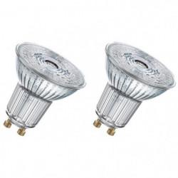 OSRAM Lot de 2 Ampoules Spots LED PAR16 GU10 4,3 W équivalen