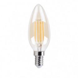 XQ-Lite Ampoule bougie or LED E14 XQ1462G 4 W équivalent à 3