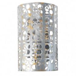 Applique métal perforé demi cylindre  E27 60 W Gris