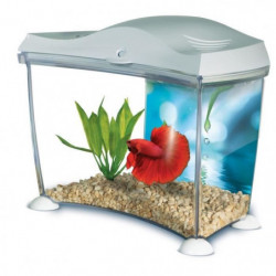 MARINA Kit aquarium pour betta - 6,7 L - Blanc