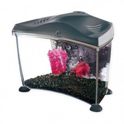 MARINA Kit aquarium Graphite pour betta - 6,7 L