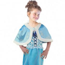 CESAR Cape Velours - Bleu - Pour enfant 5 a 10 ans