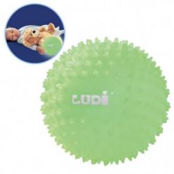 LUDI Balle Bébé Sensorielle Phosphorescente 6 m+ Diametre 15