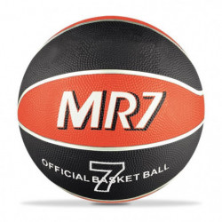 MONDO Ballon de Basket MR7 Noir et Rouge