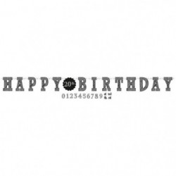 AMSCAN Guirlande lettres Happy Birthday 3,20 m x 25 cm