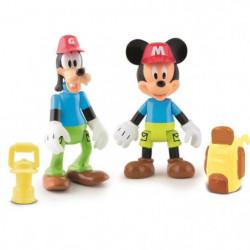 MICKEY Pack De 2 Figurines Mickey & Dingo A L'Aventure
