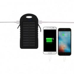 PLATYNE Batterie externe solaire - 5000 mAh
