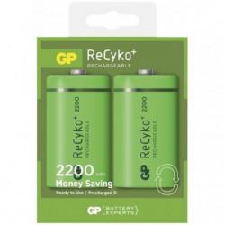 Blister de 2 piles rechargeables Recyko D/LR20 2200mAh  - GP