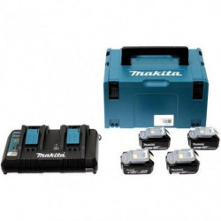 MAKITA Pack energie 18 V Li-ion - 4 batteries (4Ah) + 1 char