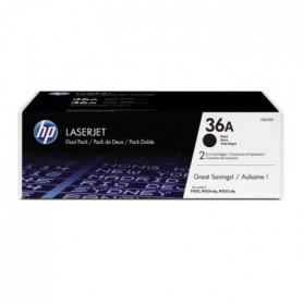 HP 36A Pack de 2 toners Noir authentiques (CB436AD)