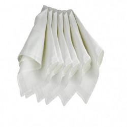 TROIS KILOS SEPT 1 Lot de 6 langes 70x70 cm Blanc