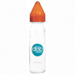 "DBB REMOND Biberon Verre 240 Ml ""Regul'air"" Tétine Non Silic"