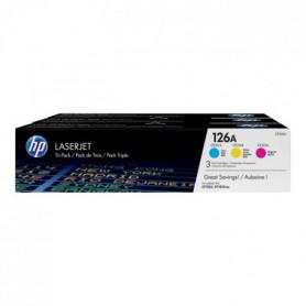 Toner HP LaserJet 126A - 3 Couleurs (CF341A)