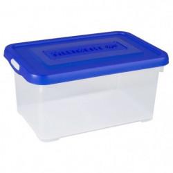ALLIBERT Boîte de rangement Handy - Couvercle bleu - 6 L